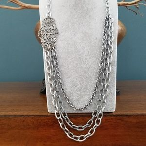 Sabika Country Star Three Row Long Necklace
